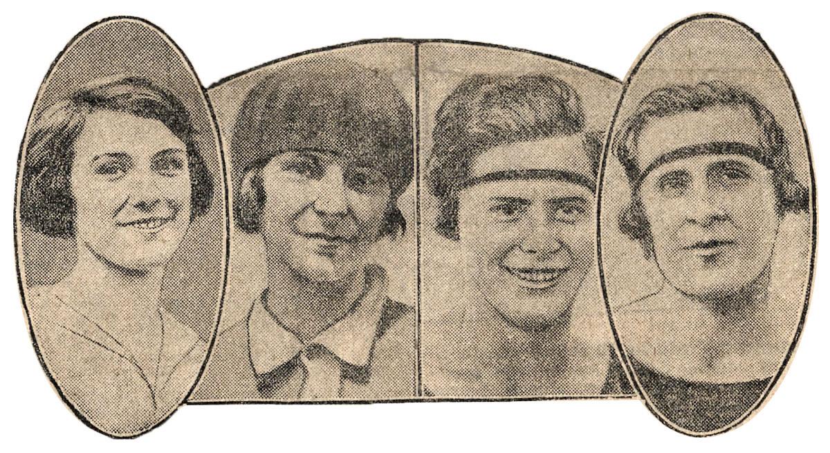 - Obě jmenovkyně pohromadě. Zcela vpravo Marie Mejzlíková II, hned vedle ní Marie Mejzlíková I. (Vyšlo ve francouzském Le Journal, 1922.)