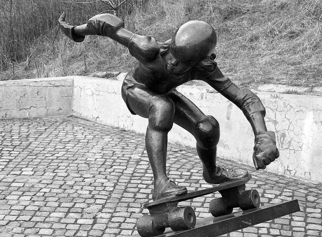Skateboardista na Folimance