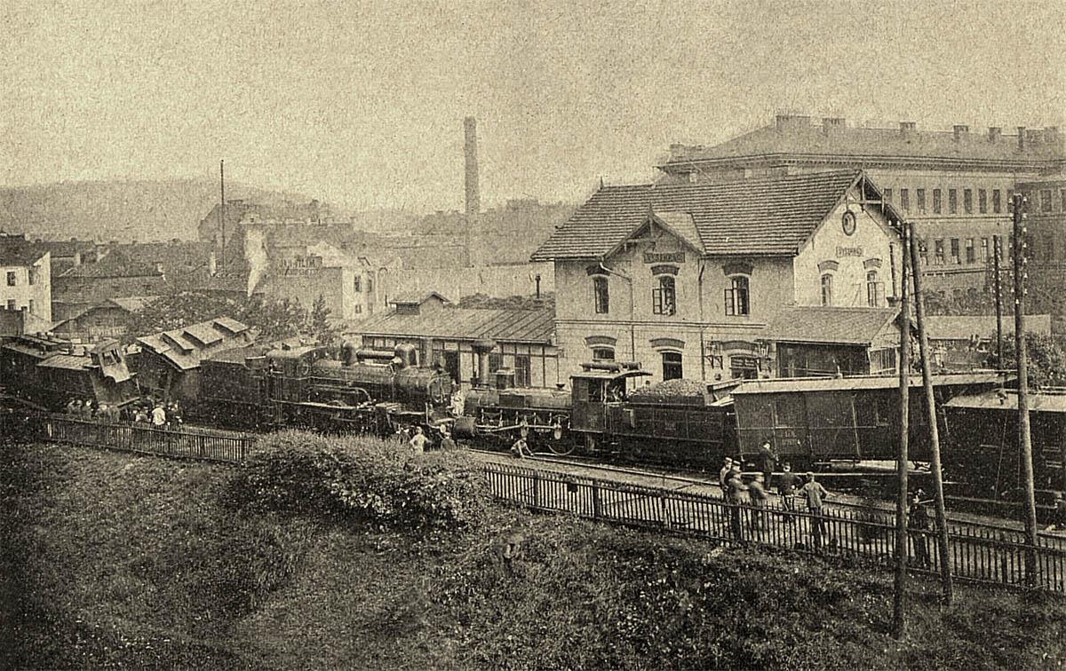 Železniční nehoda na vyšehradském nádraží