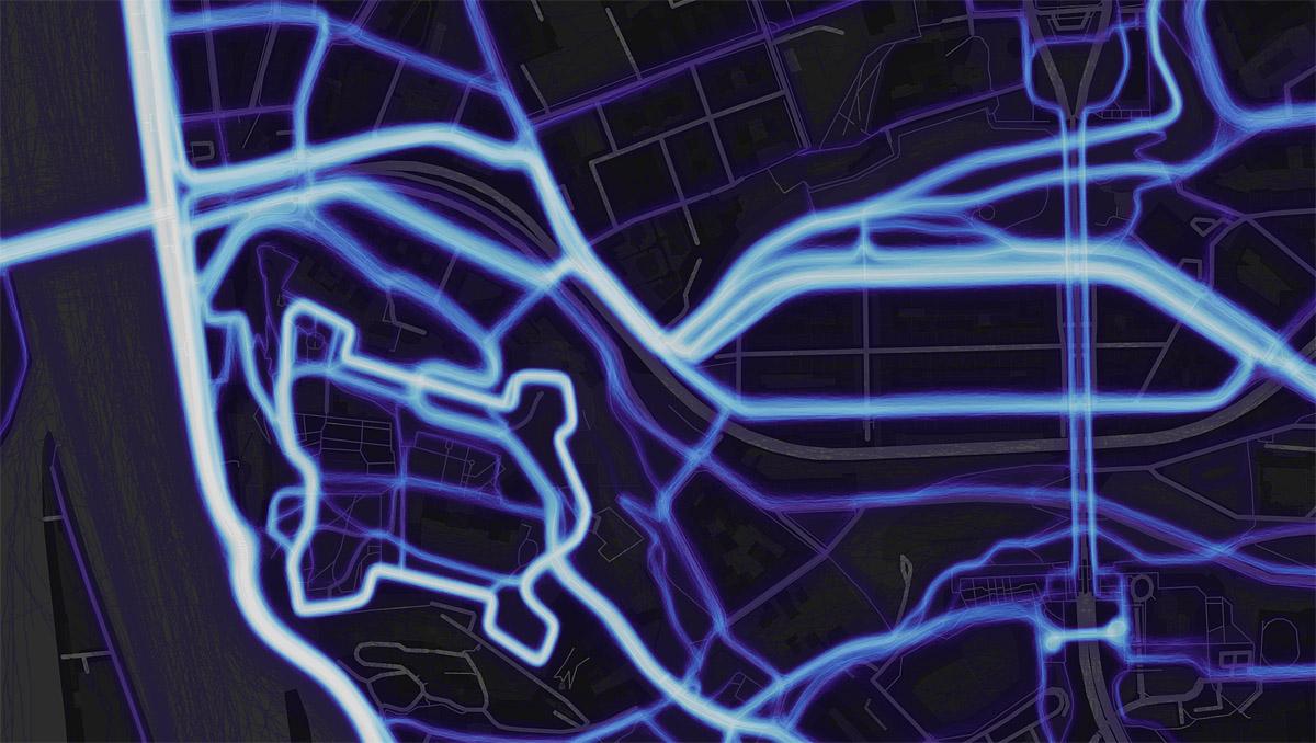 Nusle - heat mapa