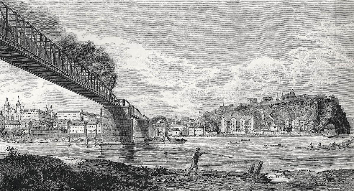 Železniční most pod Vyšehradem