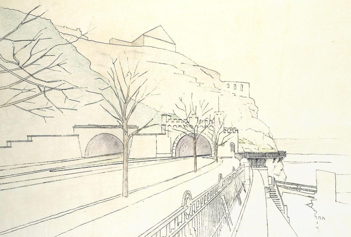 Návrh druhého vyšehradského tunelu ze 30. let