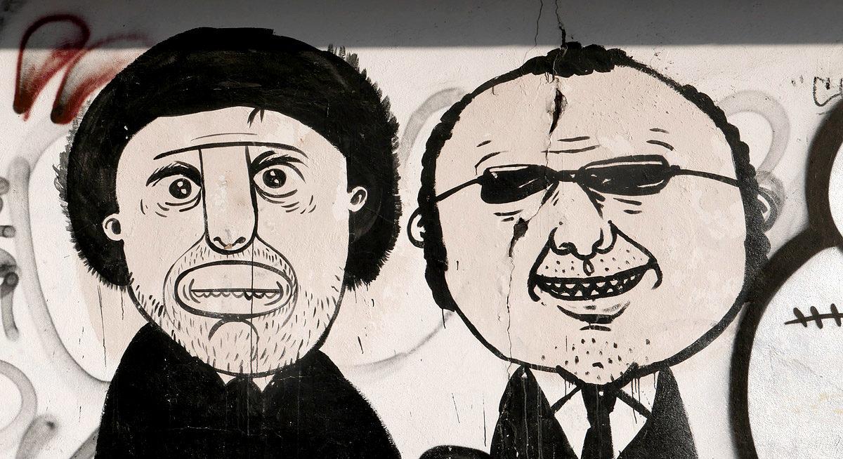 Street art Jiřího Franty na Vyšehradě