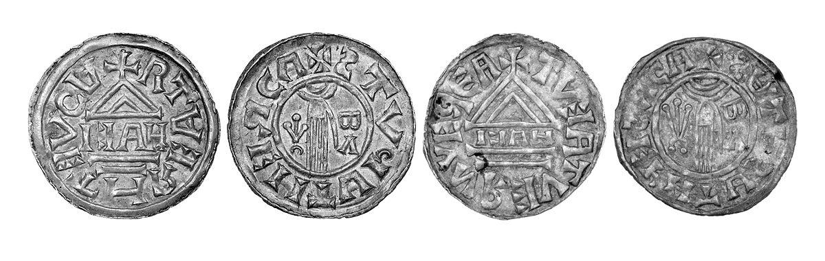 Denáry Boleslava II. z Vyšehradské mincovny