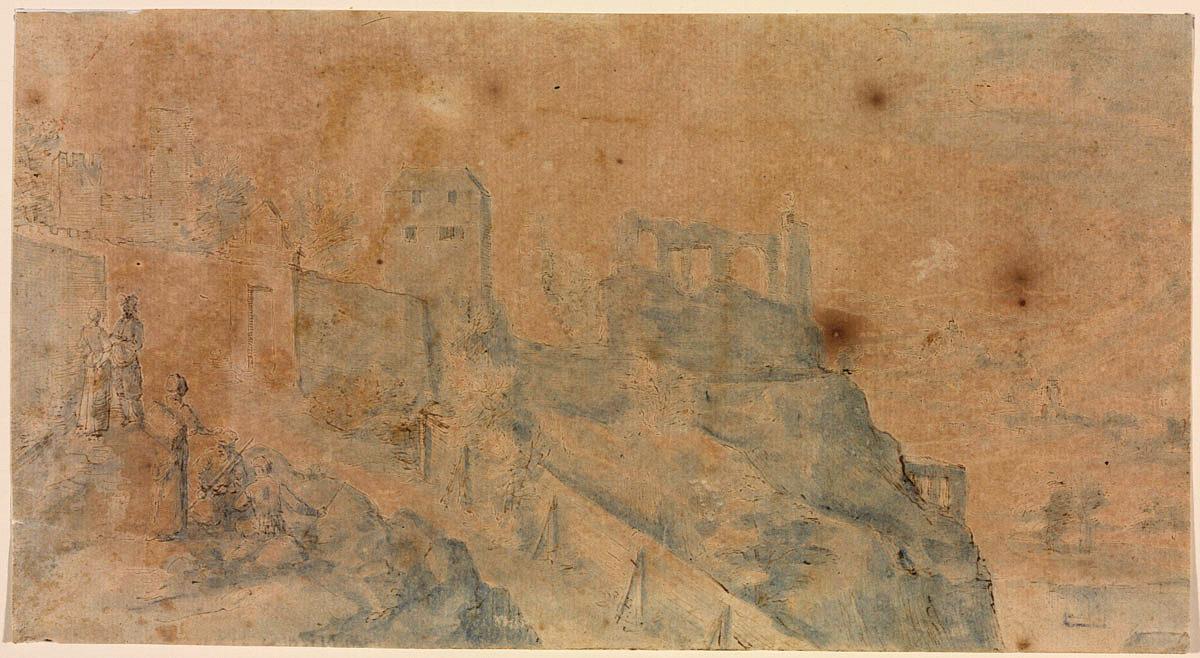 Vyšehrad na kresbě Paula van Vianena