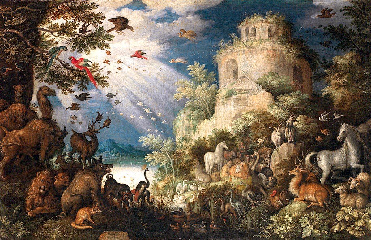 Roelandt Savery – Orfeus hrající zvířatům
