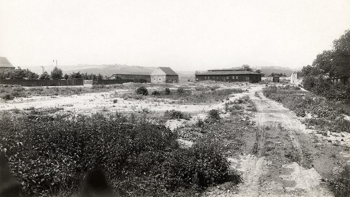 Bývalá vyšehradská akropole ve třicátých letech
