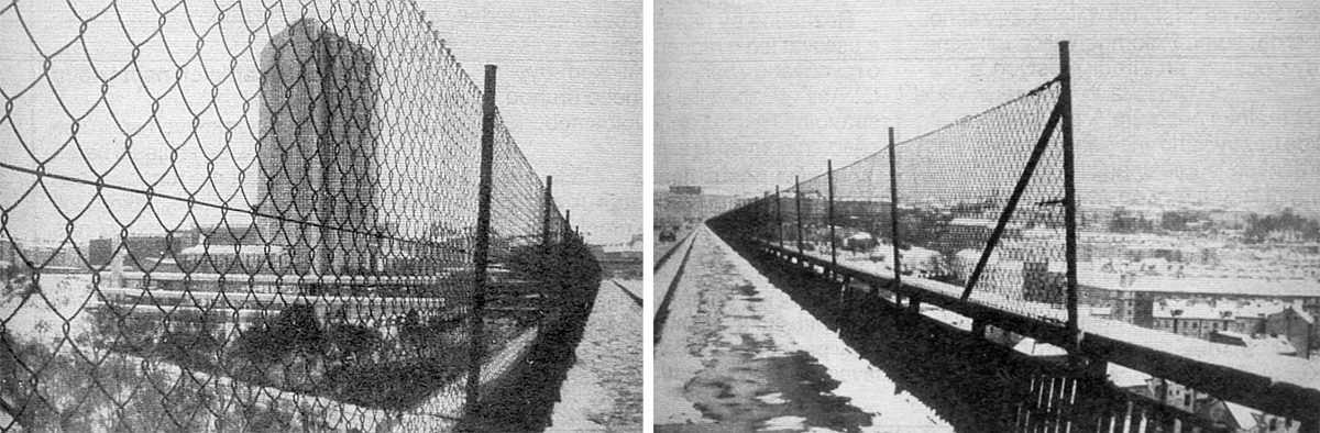 Nuselský most - ochranné pletivo