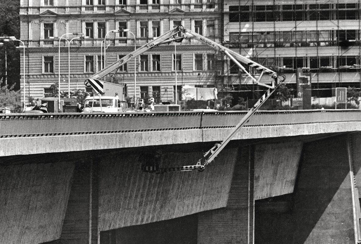 Nuselský most - údržba