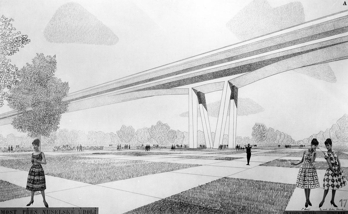 Nuselský most - Vilém Možíš a Lubomír Marek (1960)