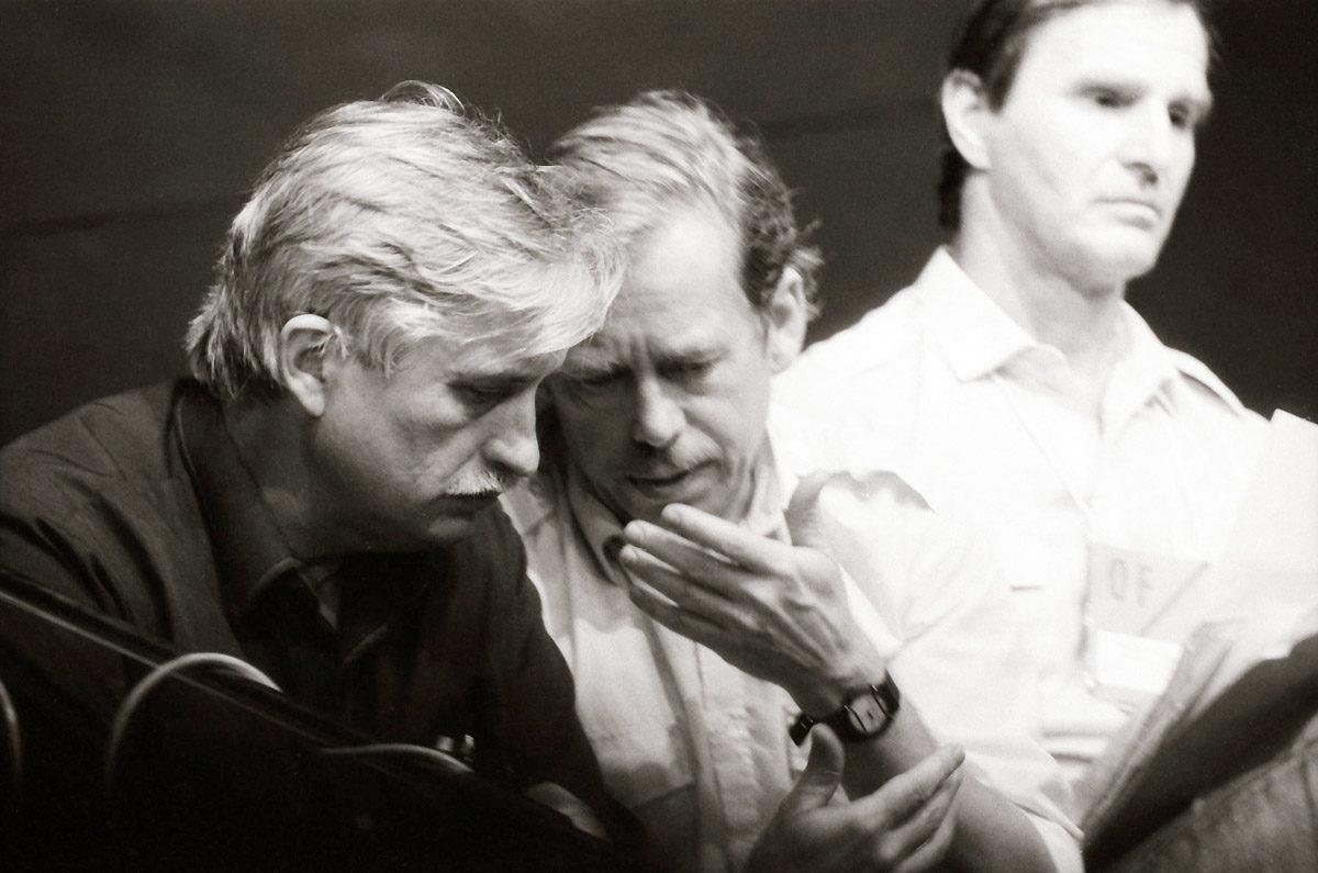 Sametová revoluce - Jiří Dienstbier, Václav Havel a Petr Miller