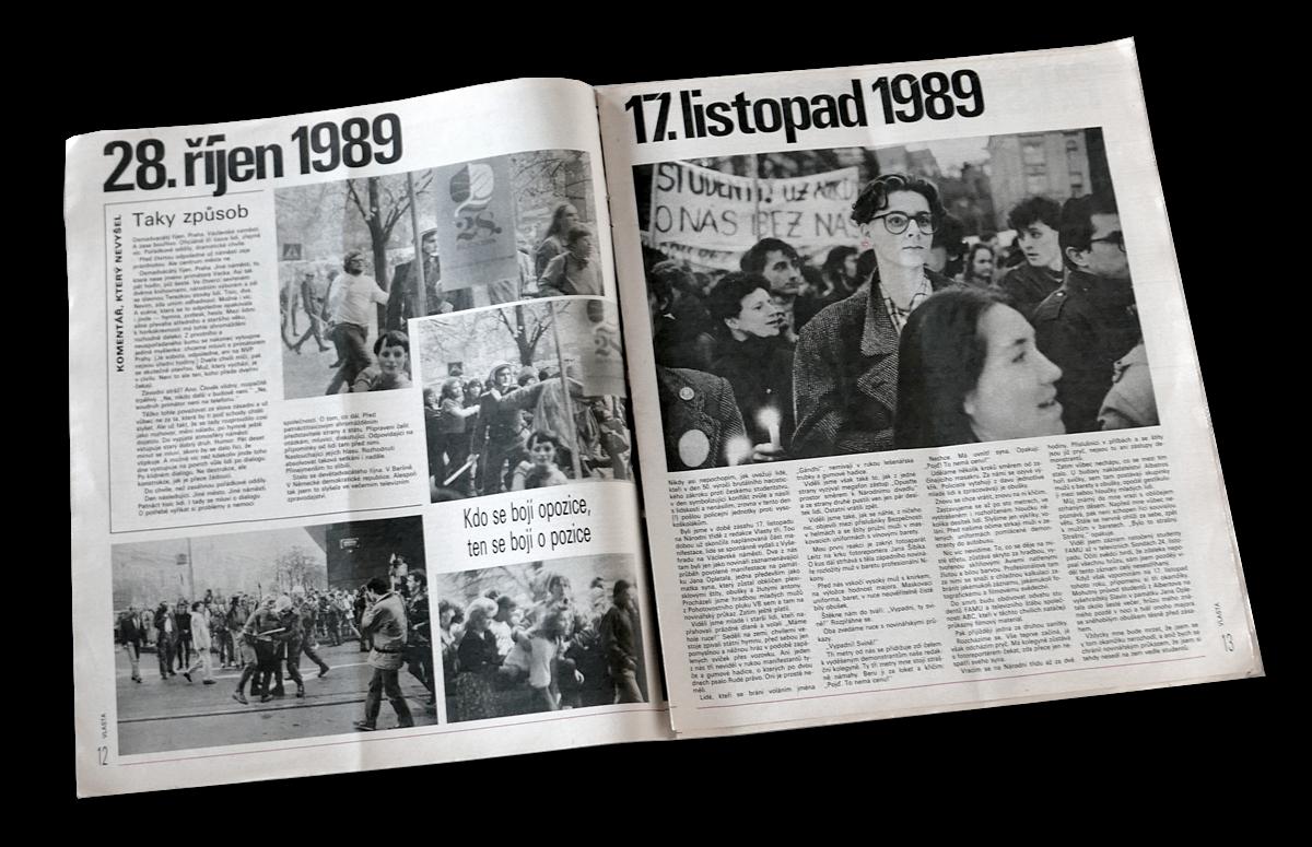 Sametová revoluce - speciální číslo časopisu Vlasta s fotkami Jana Šibíka