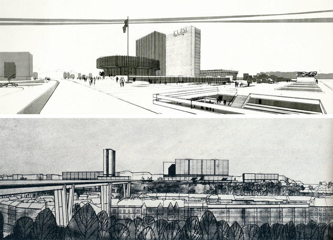 Projekt budov ČSAV na Pankráci - Karel Prager a Jiří Albrecht + Jaroslav Paroubek