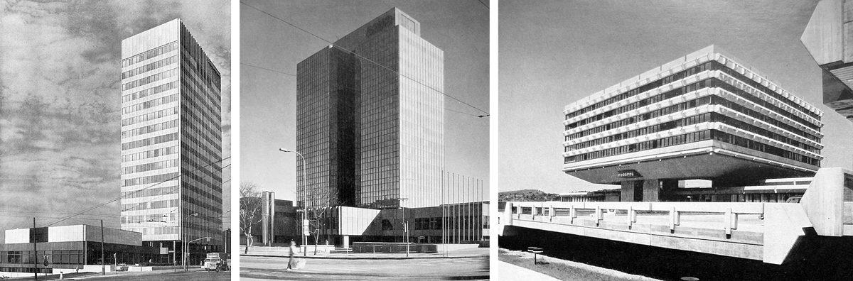 Budovy podniků zahraničního obchodu Strojimport, Kovo a Koospol
