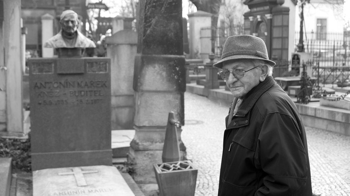 Václav Potoček na Vyšehradském hřbitovu