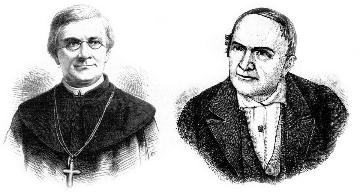 Vyšehradský probošt Václav Štulc (vlevo) a obrozenec Václav Hanka