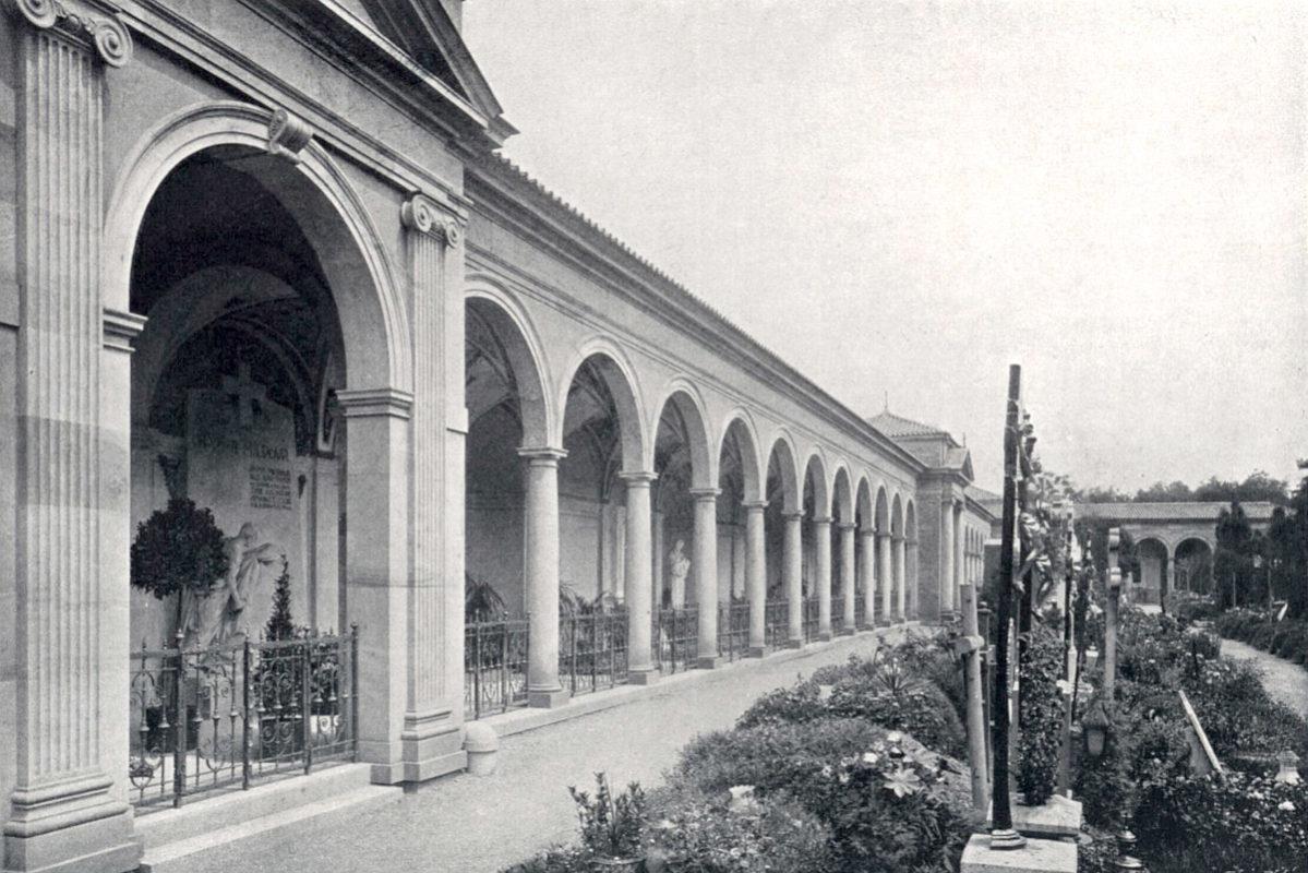 Severní arkády Vyšehradského hřbitova