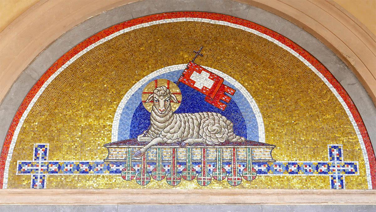 Mozaika Marie Viktorie Foersterové na Vyšehradském hřbitově
