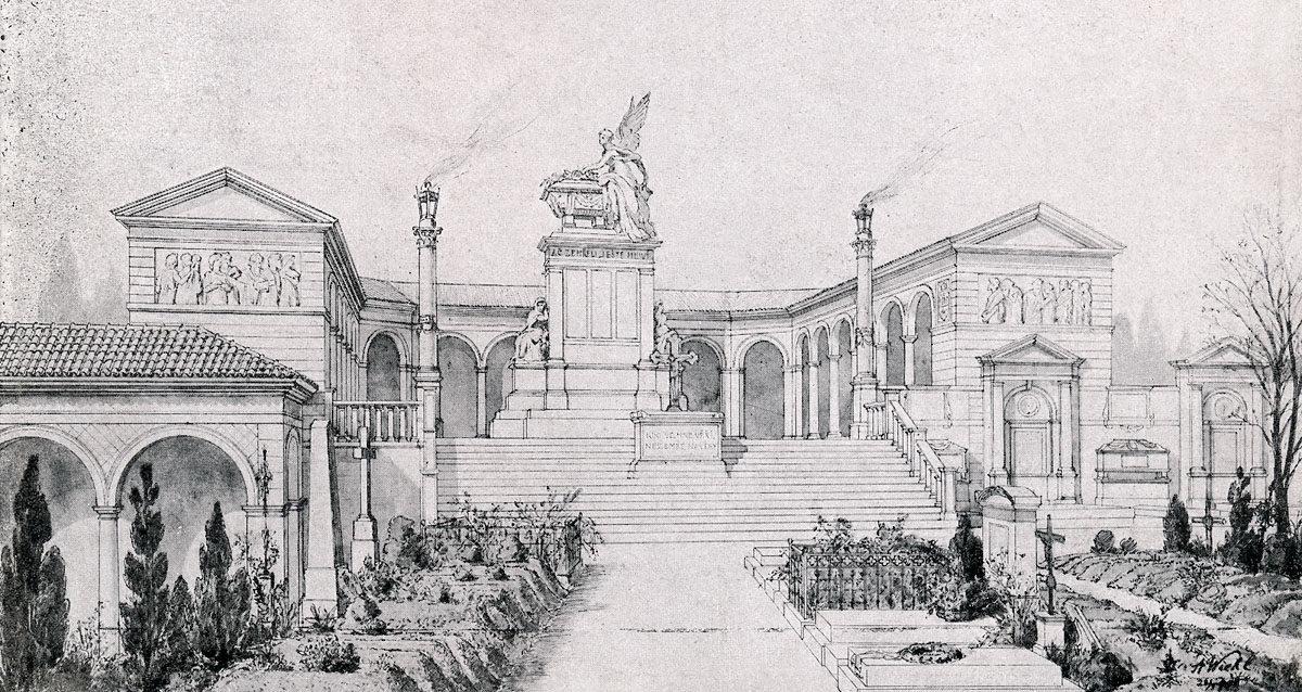 Návrh Antonína Wiehla na rozšíření vyšehradského Slavína