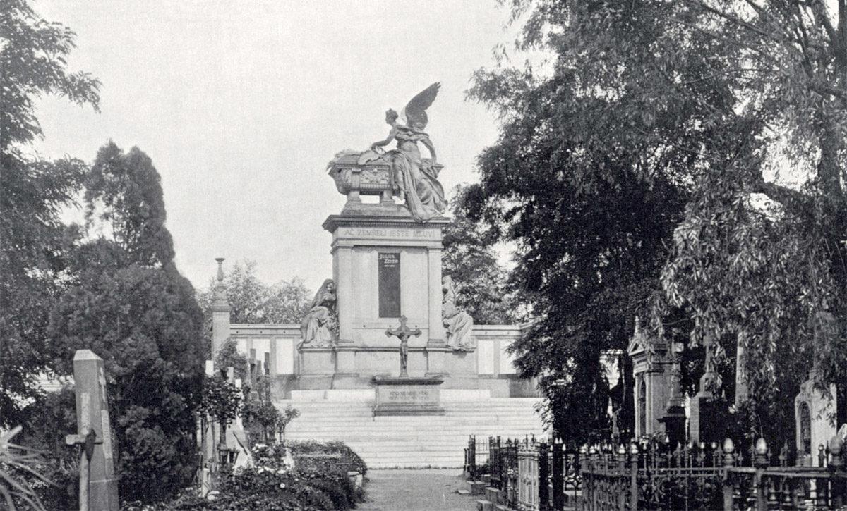 Slavín na Vyšehradském hřbitovu v roce 1902