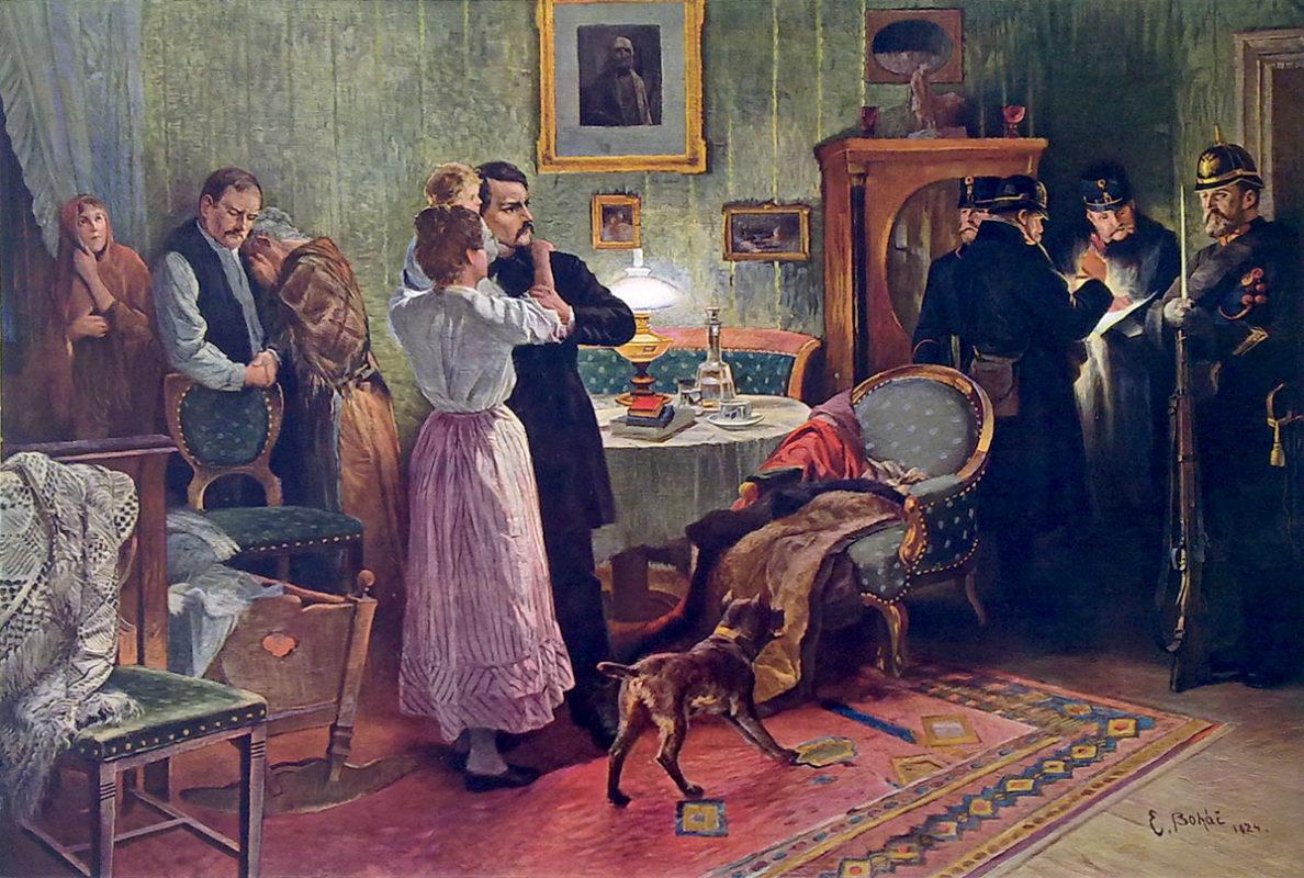 Emanuel Boháč – Karel Havlíček se loučí s rodinou