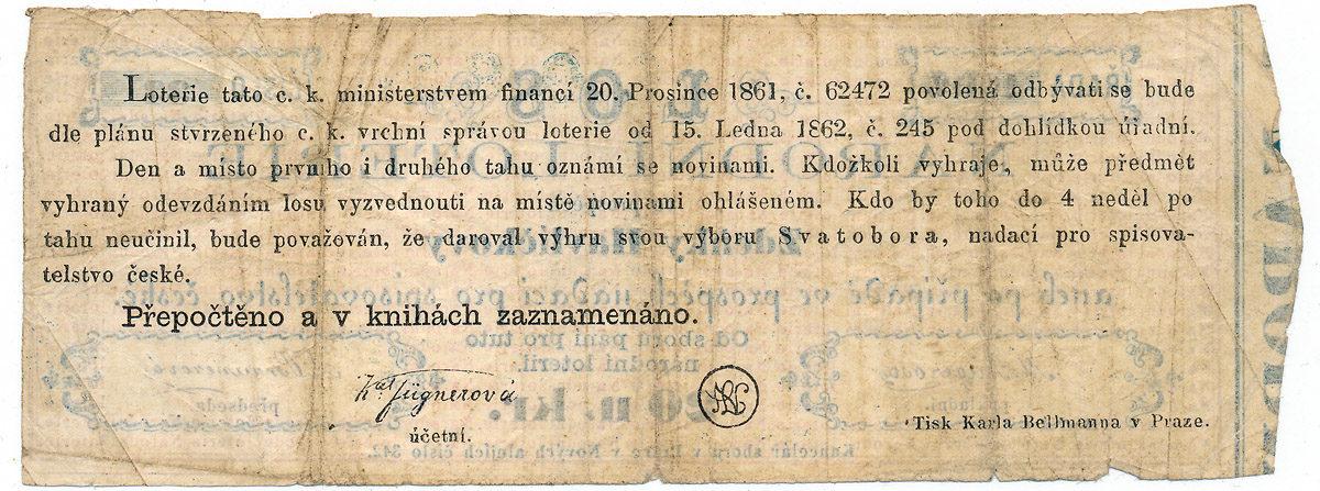 Los Národní loterie ve prospěch Zdeňky Havlíčkové