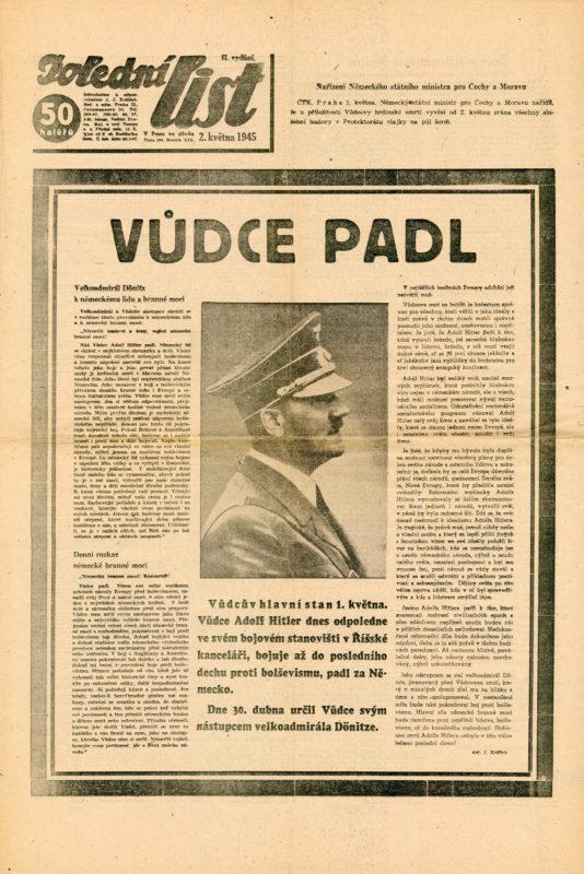 Noviny – Vůdce padl, sebevražda Adolfa Hitlera