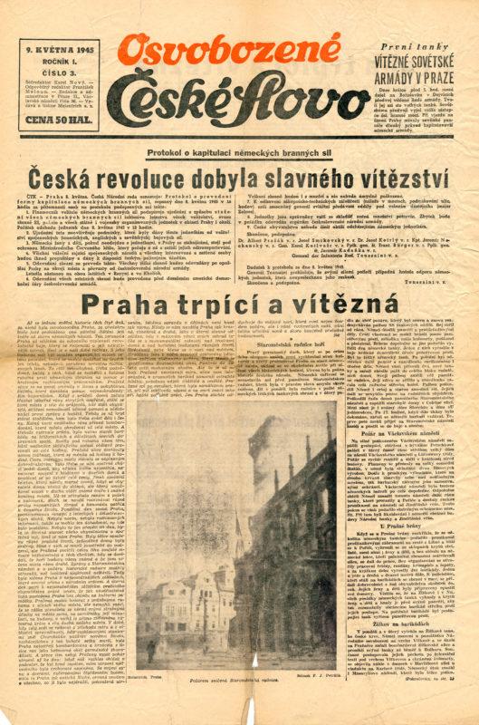 Noviny - Pražské povstání