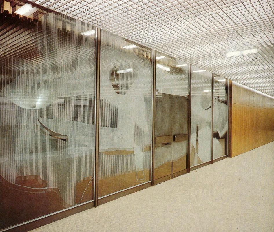 František Burant – Skleněná stěna, Palác kultury