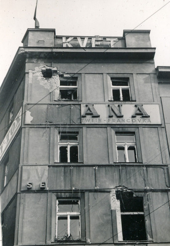 Pražské povstání – Roh Francouzské a Jana Masaryka