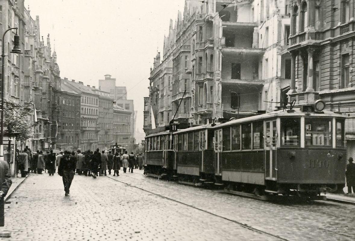 Pražské povstání – Tramvaj na Vinohradské třídě