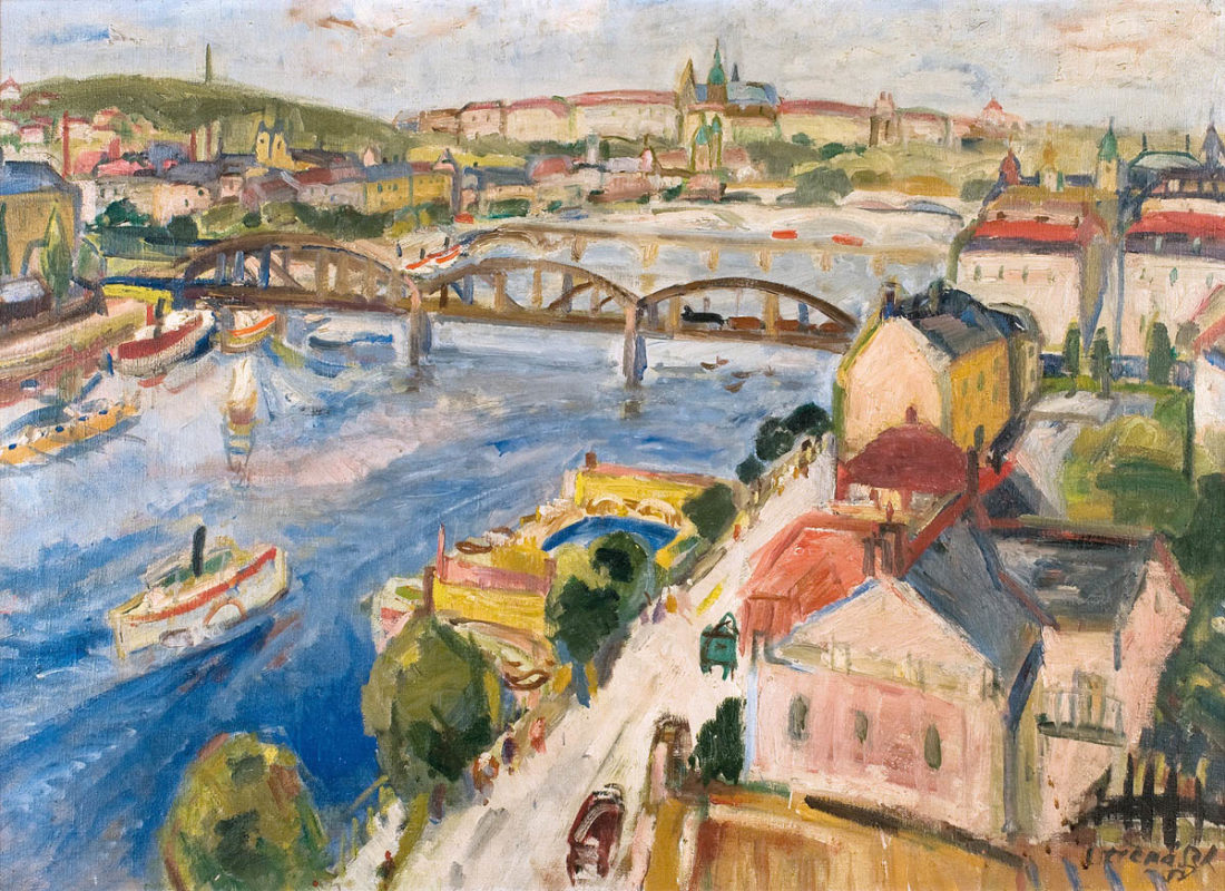 Jaroslav Otčenášek - Pohled z Vyšehradu, 1958