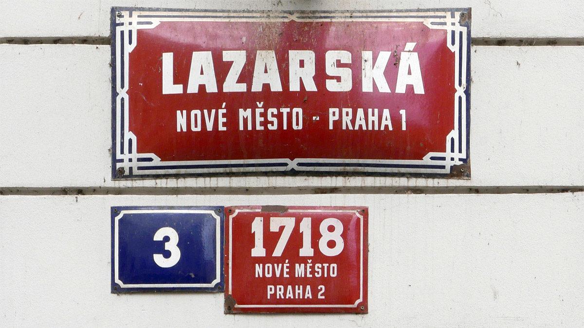 Číslování domů v Praze – Dům Domácnosti v Lazarské ulici