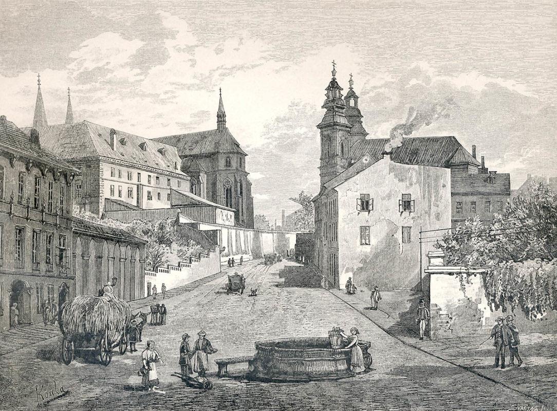 Emauzský klášter, Emauzy, sv. Jan na Skalce – Vyšehradská třída