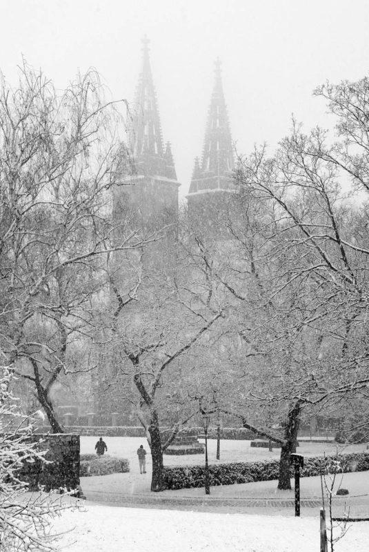 Vyšehrad v zimě