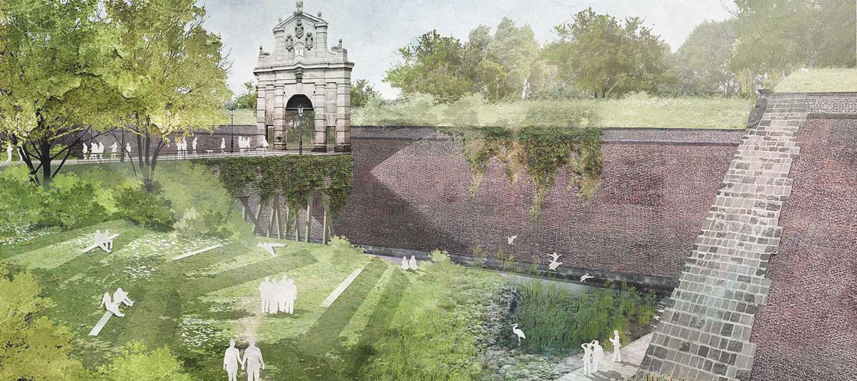 Koncepce rozvoje Vyšehradu od Rehwaldt Landscape Architects