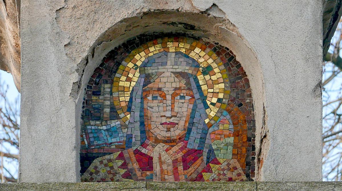 Mozaika na vyšehradském morovém sloupu