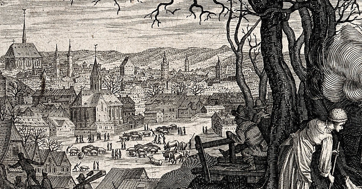 Pieter Stevens, Aegidius Sadeler – Dobytčí trh