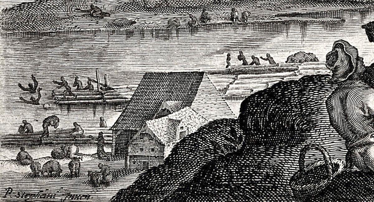 Pieter Stevens, Aegidius Sadeler – Pohled z Vyšehradu