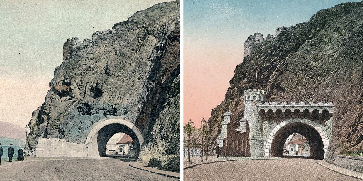 Vyšehradský tunel z podolské strany