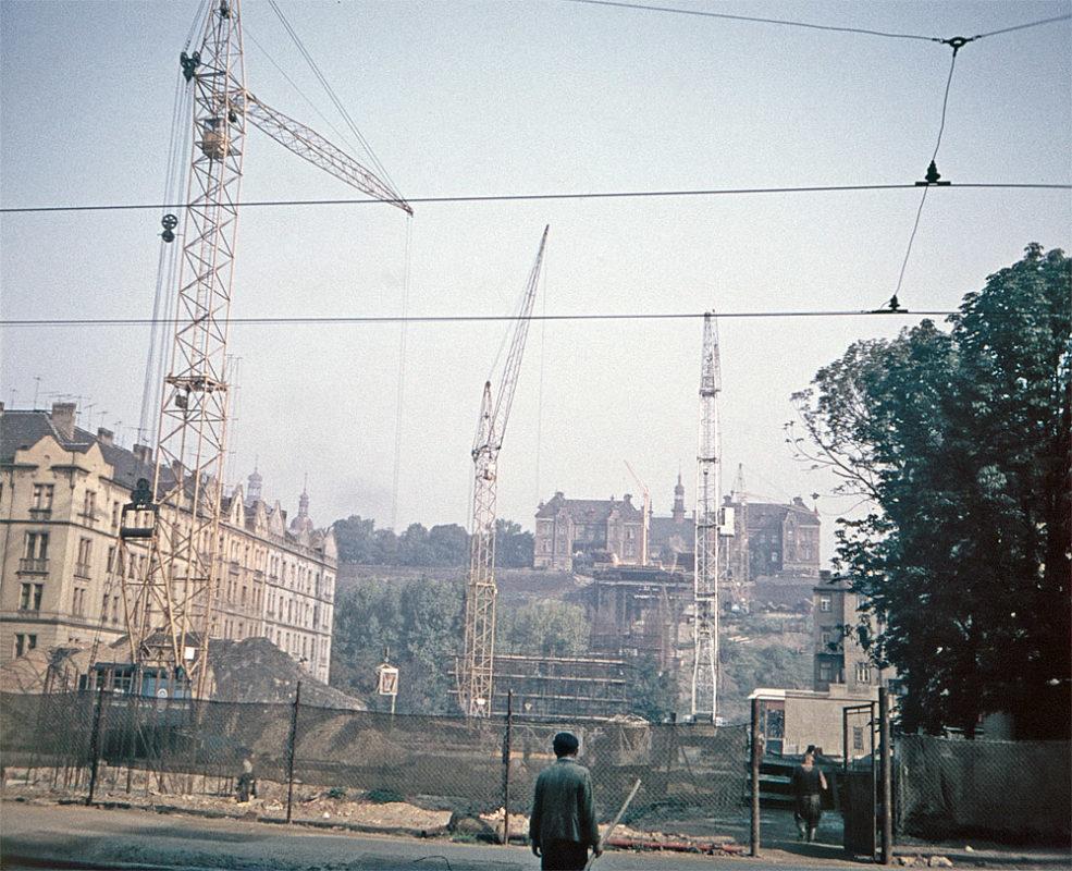 Zakládání Nuselského mostu, 1968