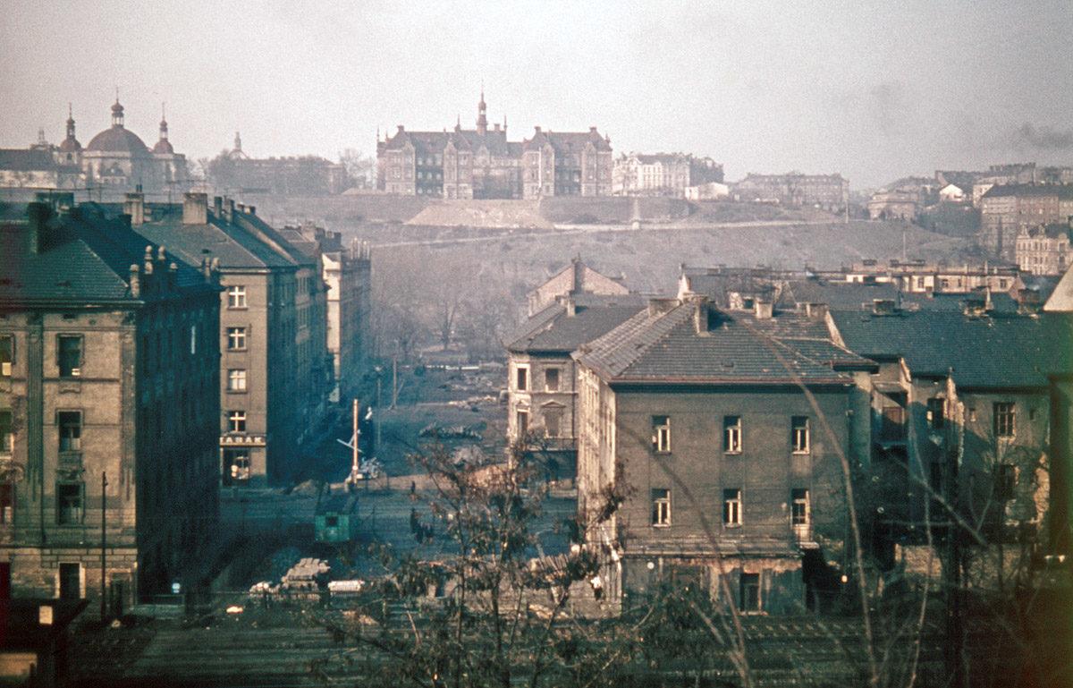 Nuselské údolí před stavbou mostu