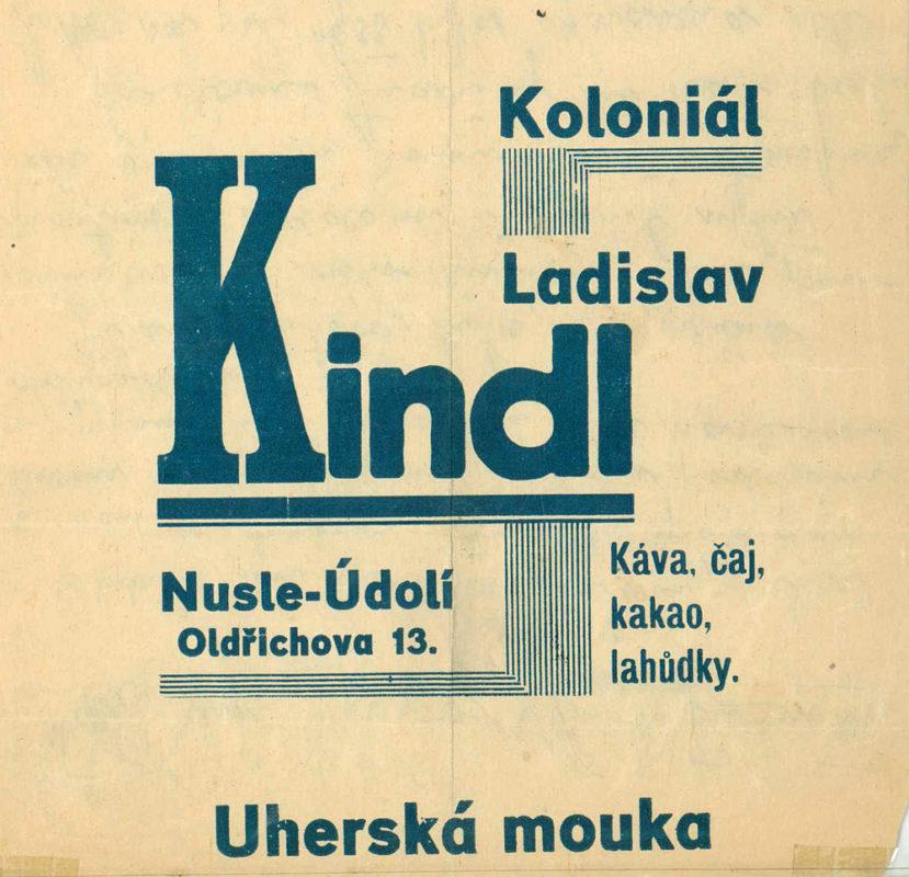 Koloniál Ladislav Kindl - Oldřichova 13, Nusle