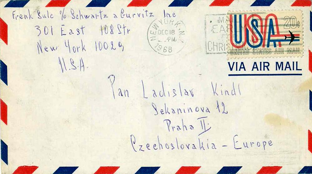 Dopis od Františka Šulce