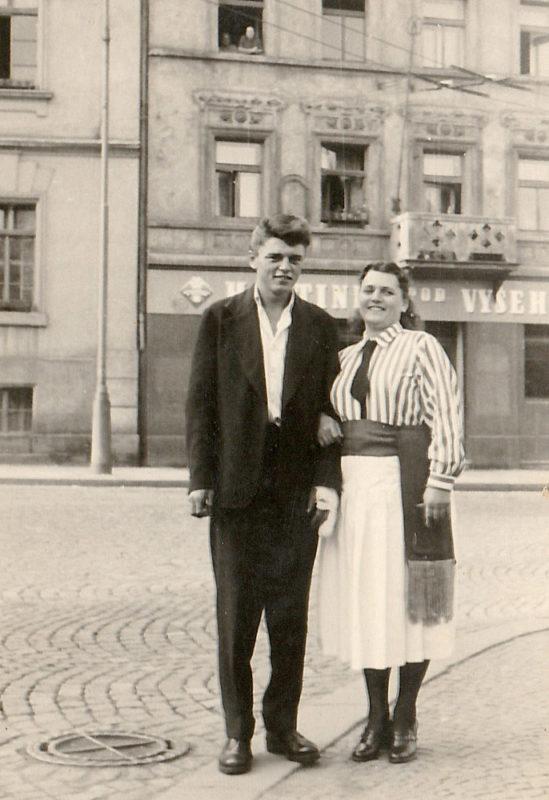 František Šulc s maminkou