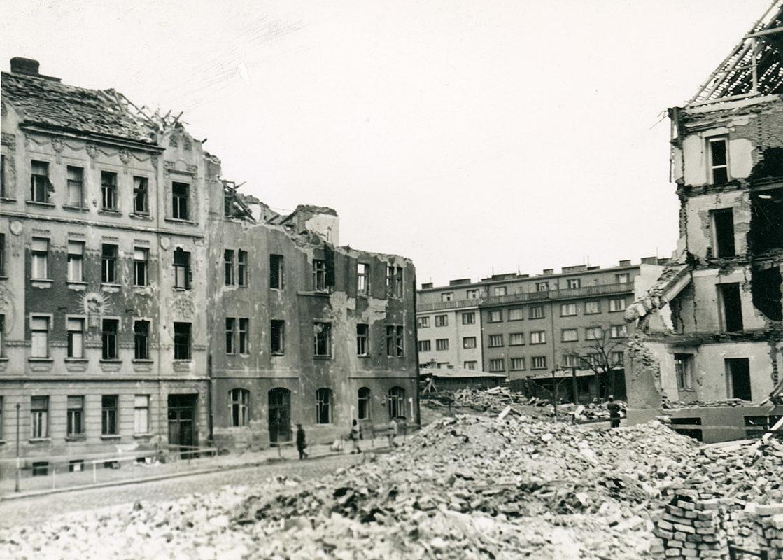 Na Pankráci, bombardování 1945