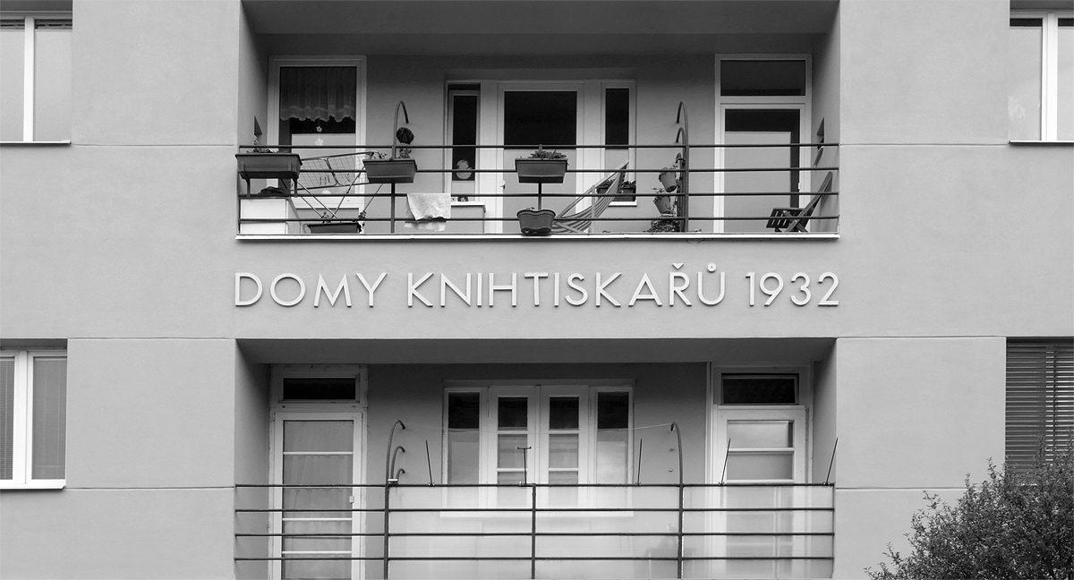 Podolí, Jeremenkova ulice – Domy knihtiskařů
