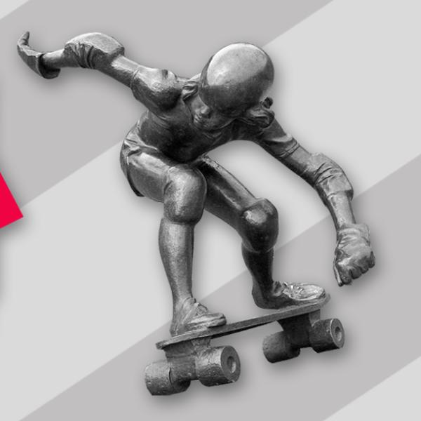 Pomozte zachránit první skateboardingovou sochu světa