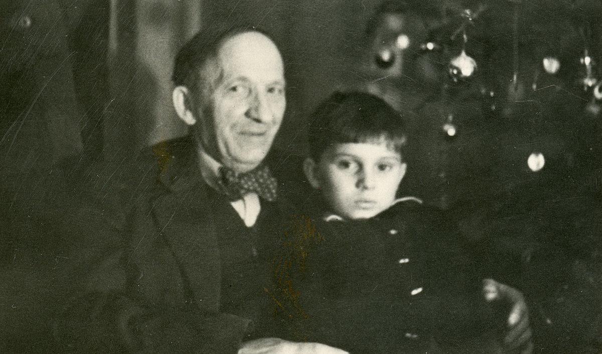 Radimír Novotný se svým dědečkem