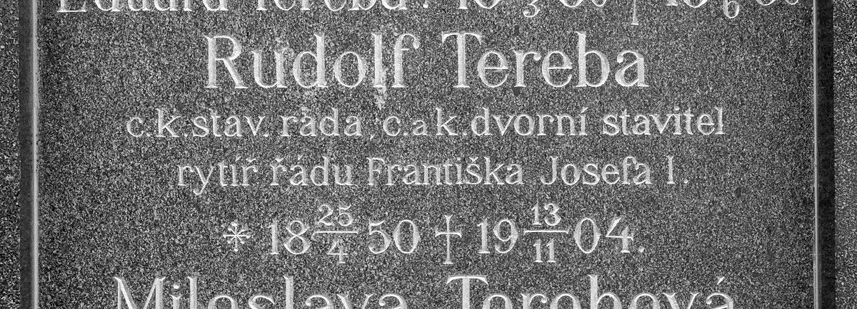 Rudolf Tereba – náhrobek na Vyšehradském hřbitově